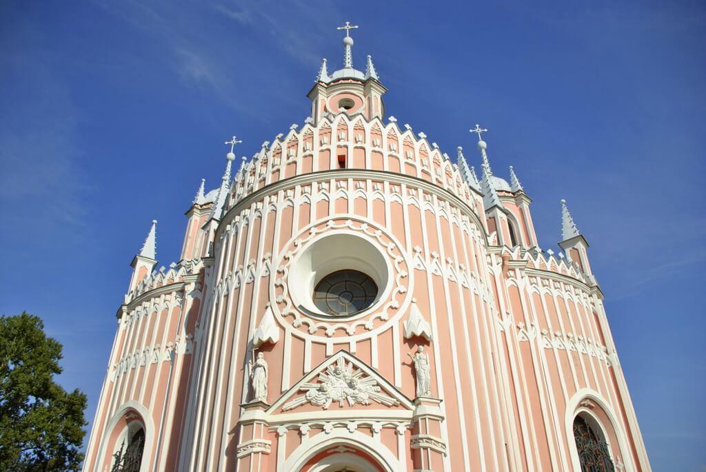 Detalle de la iglesia de Chesme