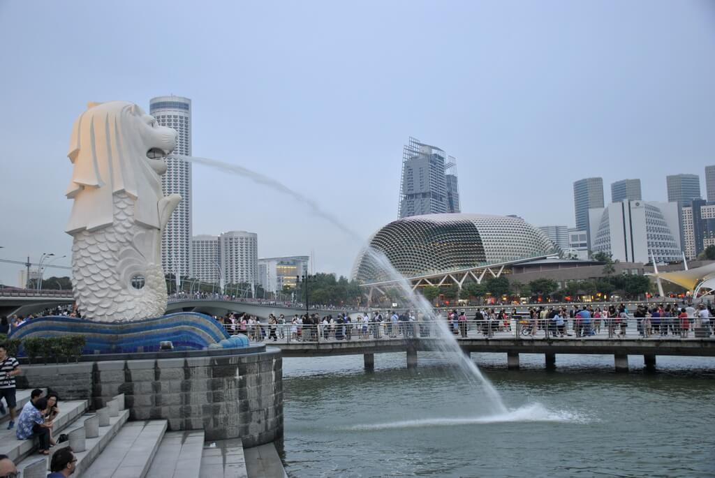 Estatua del Merlion, Singapur