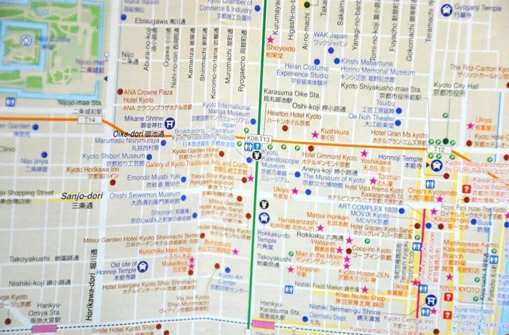 cómo moverse por Kioto