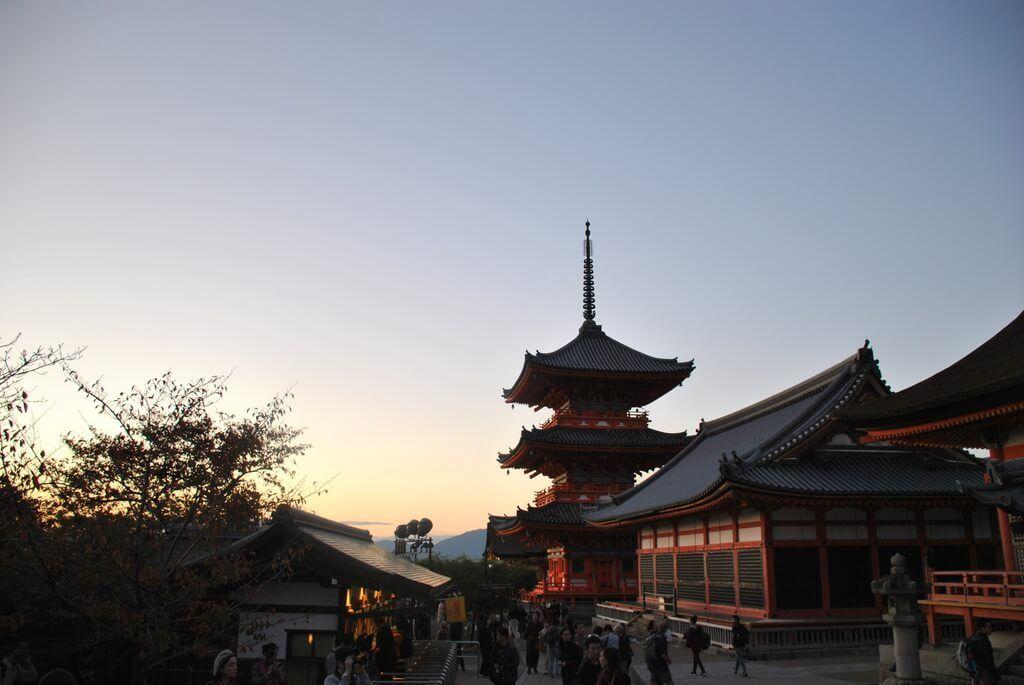 atardecer en Kioto