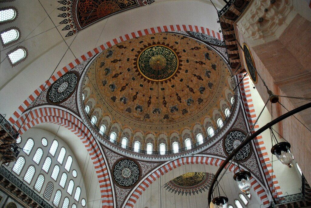 Interior de la Mezquita de Solimán