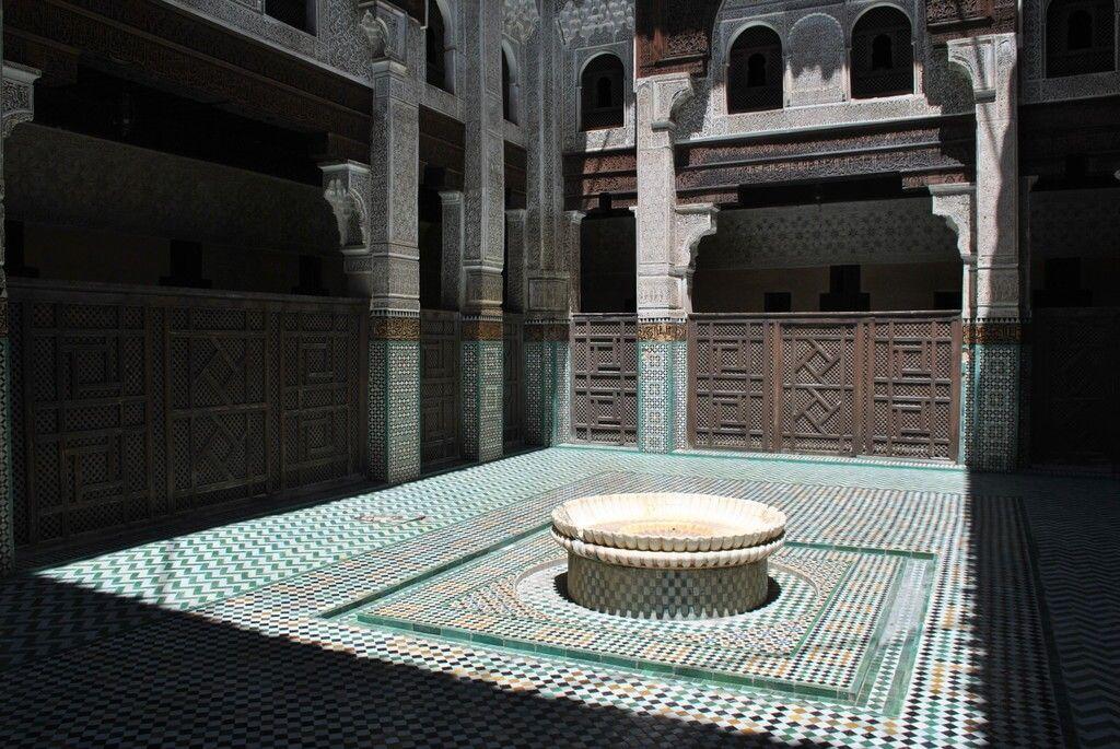 interior Madrasa Bou Inania, Meknes