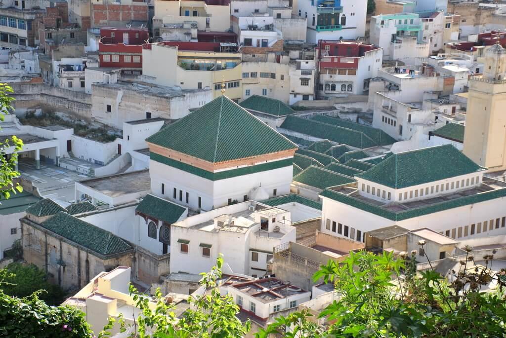 vistas de Moulay Idriss desde Khiber