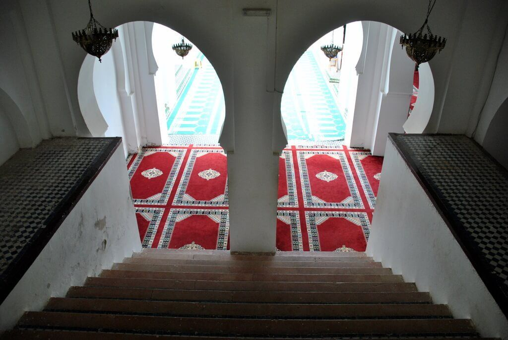 interior mausoleo de Moulay Idriss
