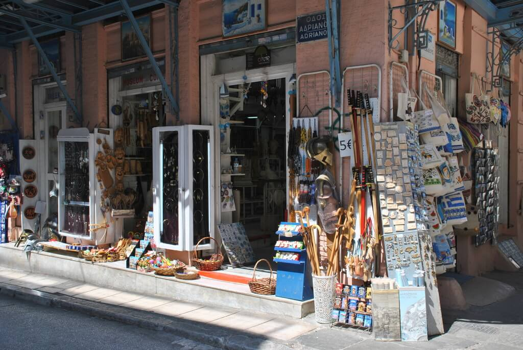 calle adrianou, Atenas