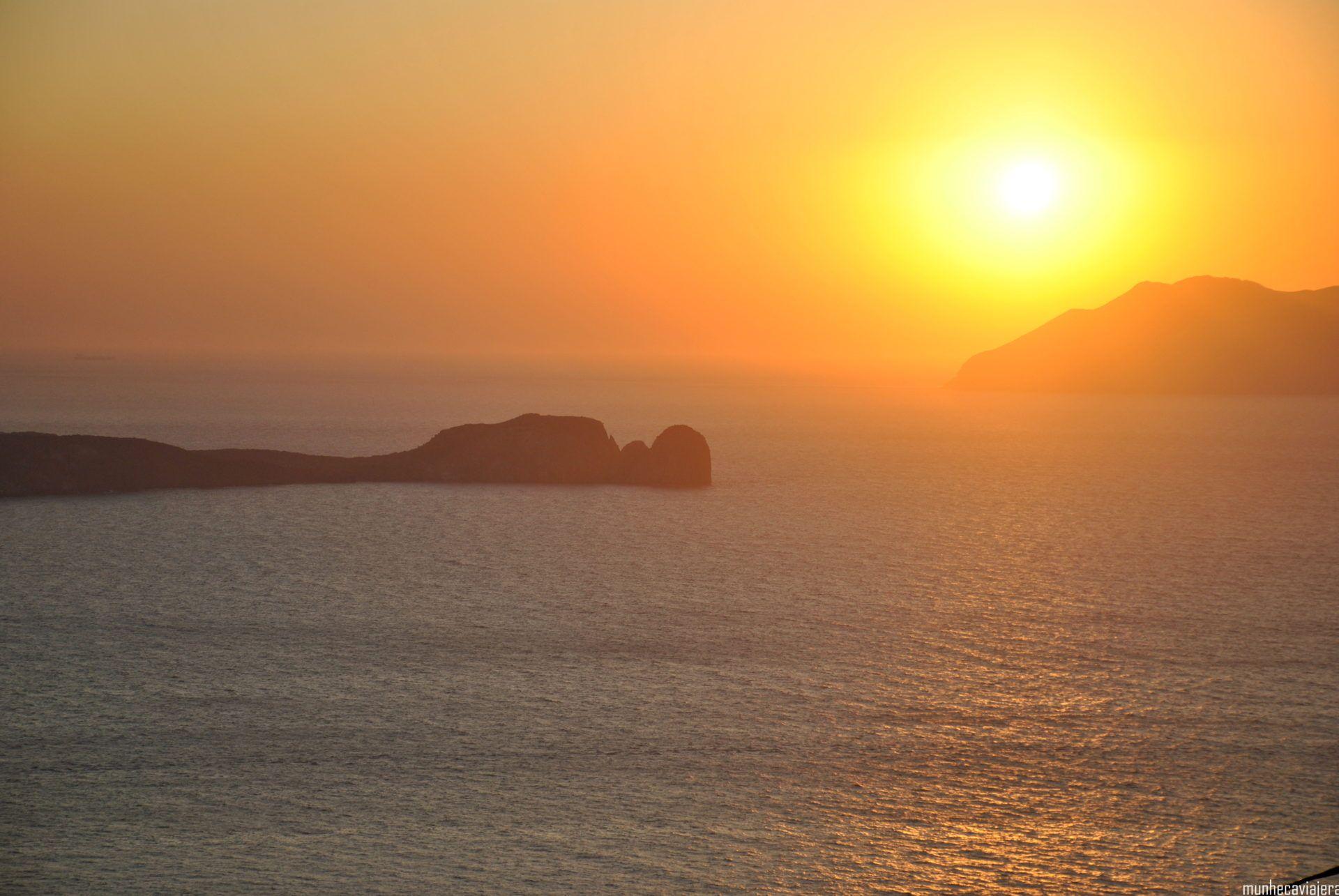 puesta de sol Plaka