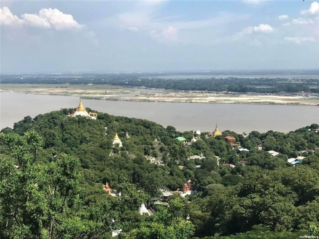vistas de la colina de Sagaing