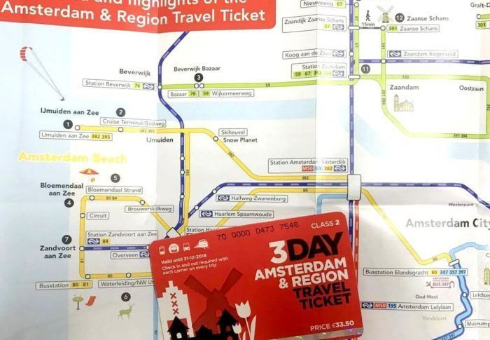 TARJETA AMSTERDAM & REGION TRAVEL TICKET