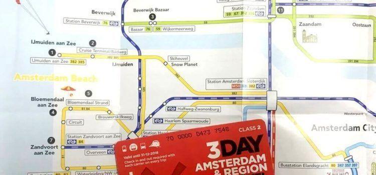 TARJETA AMSTERDAM & REGION TRAVEL TICKET