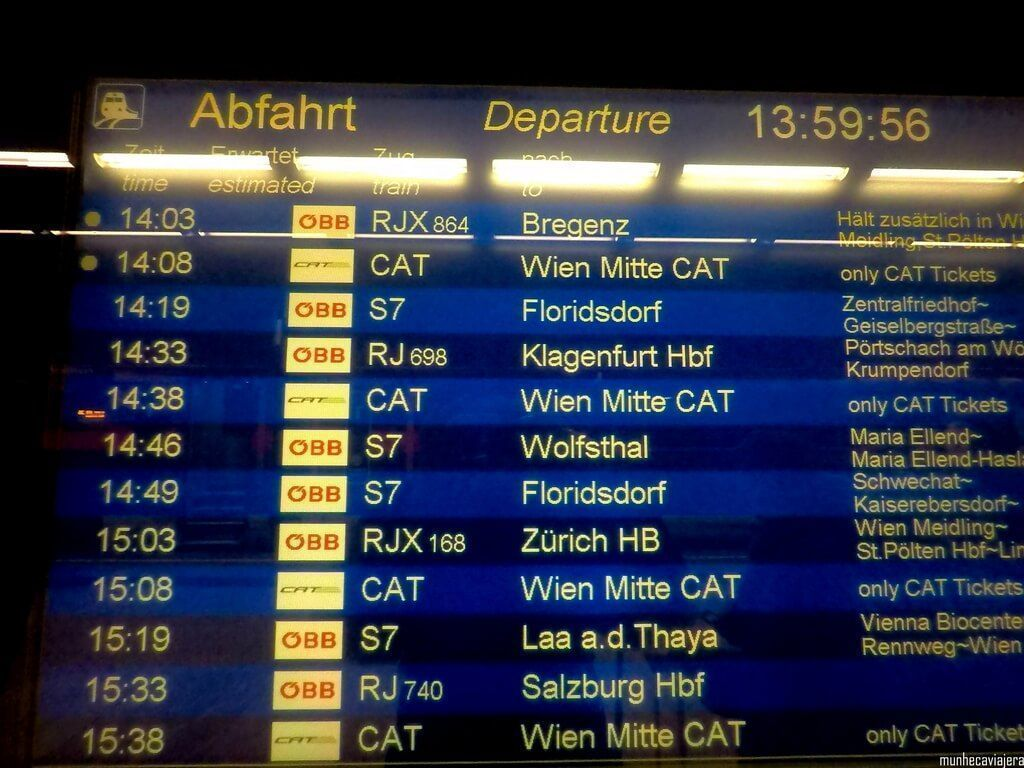 cómo ir del aeropuerto al centro de Viena