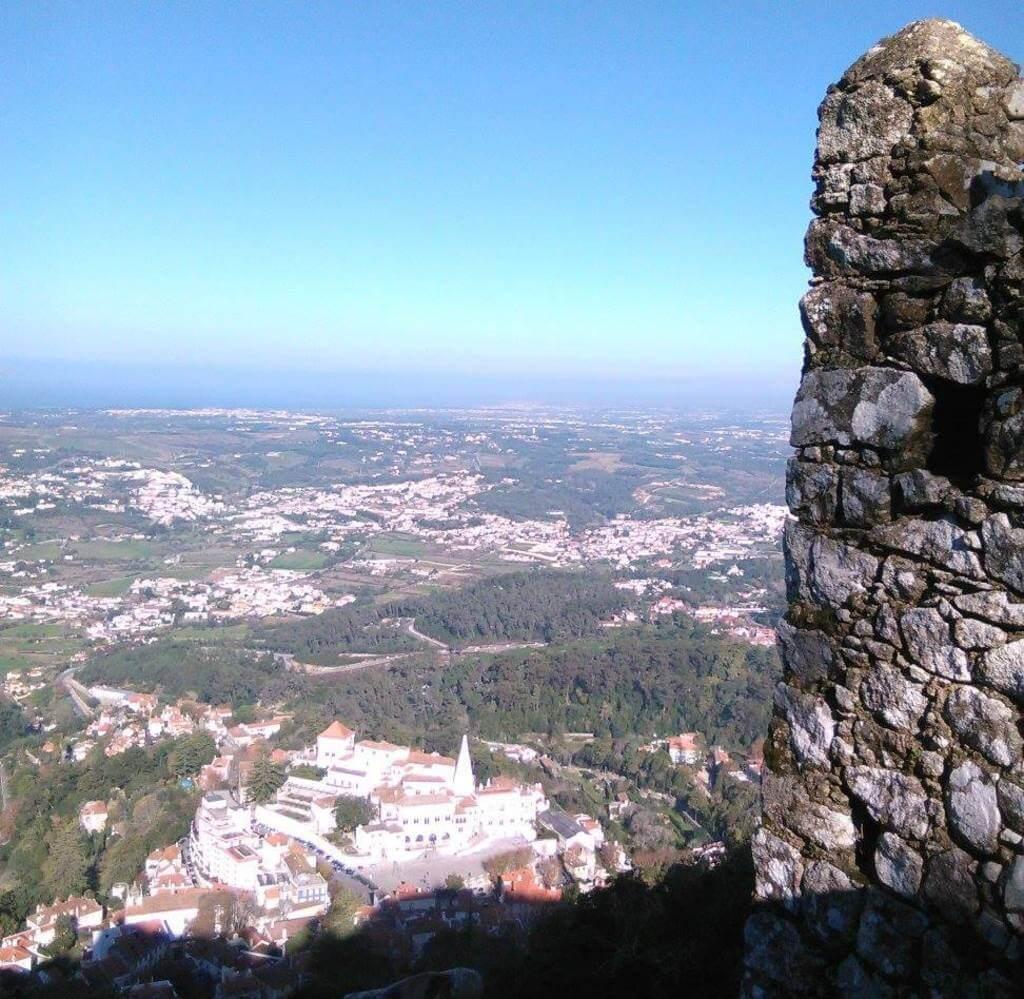 Sintra desde el castelo dos mouros