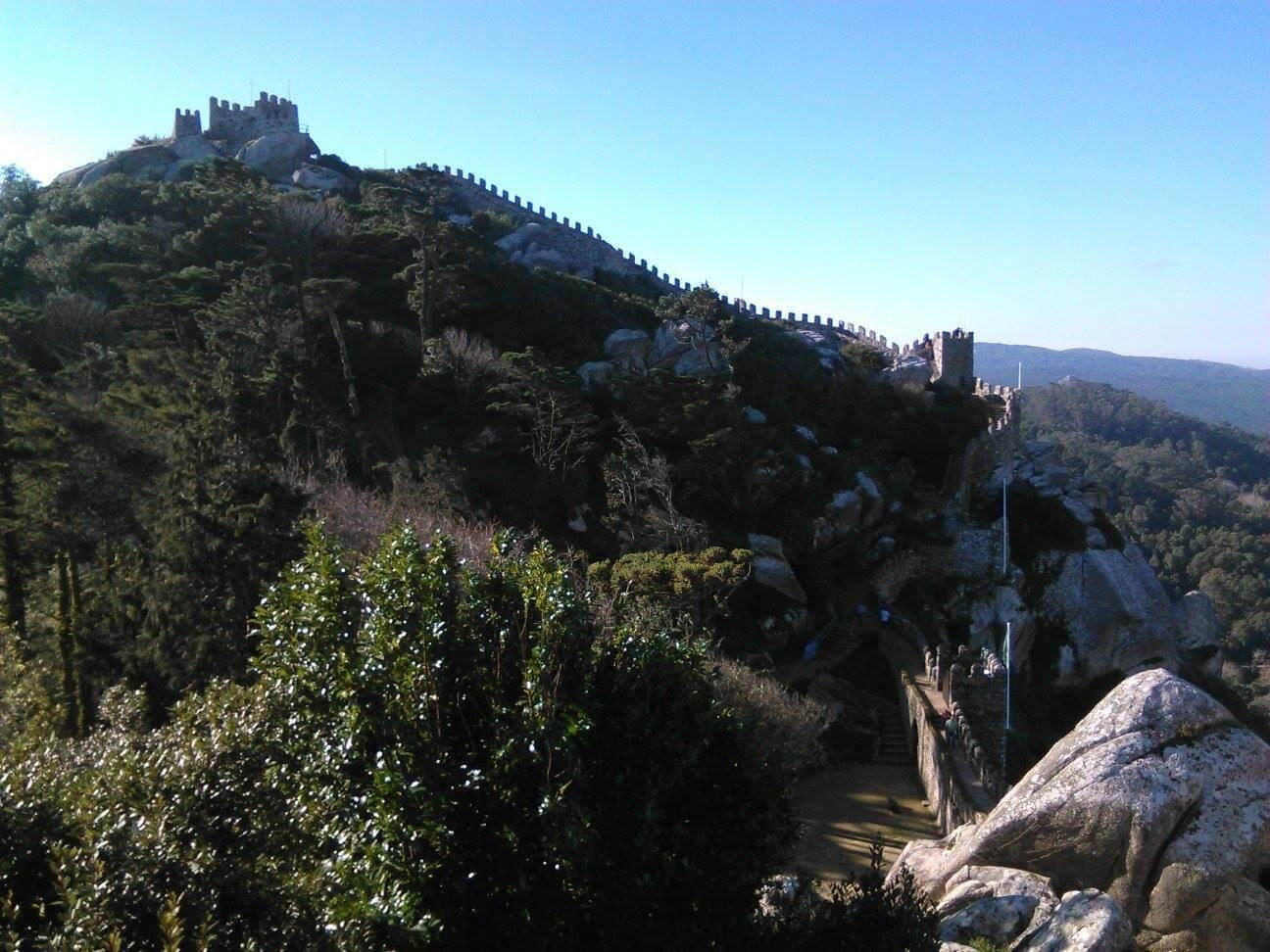 Interior Castelo dos mouros